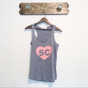 Soulcycle Heart Tank Top Grey Size Small